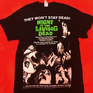 NIGHT OF THE LIVING DEAD  MOVIE POSTER T-SHIRT